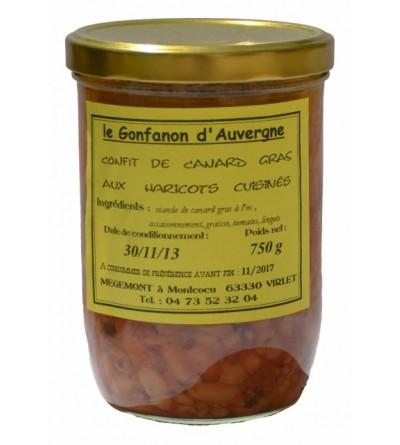Confit de Canard Grad aux Haricots cuisinés